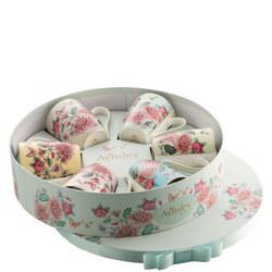 Butterfly Garden Hat Box Set of 6 Mugs