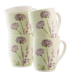 Floral Spree 4 Mugs Set Multi Colour