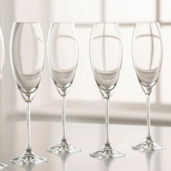 Clarity Flute Set of 6 Clear