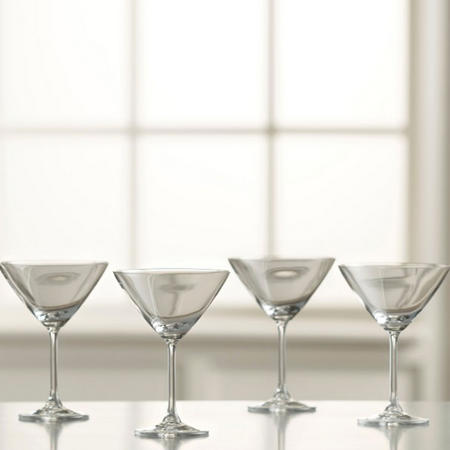 Martini Set of 6 Clear