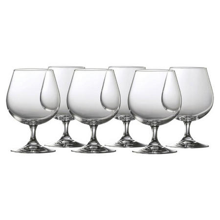 Clarity Small Brandy Set of 6 Clear