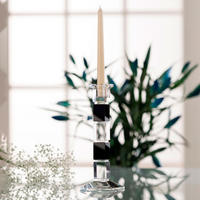 "Deco 10"" Square Candlestick Black"