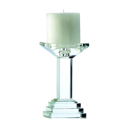 "Paris 7"" Candleholder Clear"