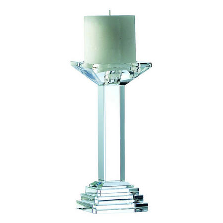 "Paris 8.5"" Candleholder Clear"