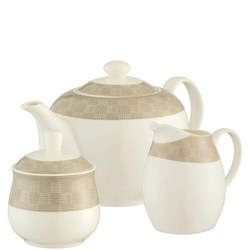 Merino Teapot, Sugar & Cream