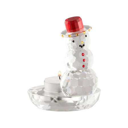 Snowman Votive 12cm