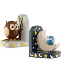 Day & Night Owl Bookends Multi Colour