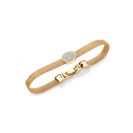 Yellow Gold Chain Mail Circle Bracelet