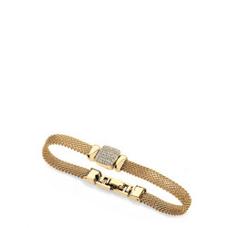 Yellow Gold Chain Mail Square Bracelet