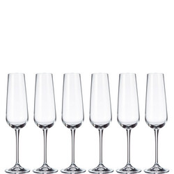 Grape Champagne Flutes Set Of Six
