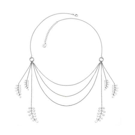 Silver Boho Leaf Necklace