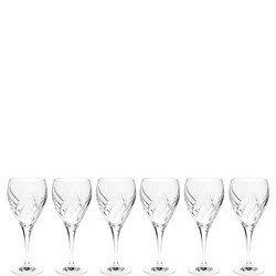 Bloom Set of 6 Wine Glasses Clear