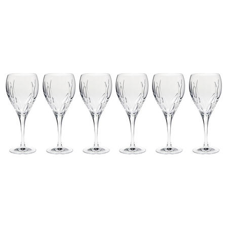 Flame Set of 6 Wine Glasses in Hatbox