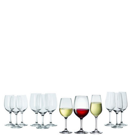 Entree Glasses 12 Piece Set Clear
