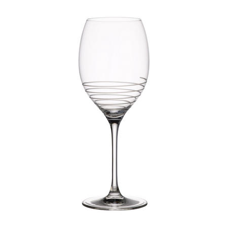 Maxima Decorated Spiral Bordeaux Goblet