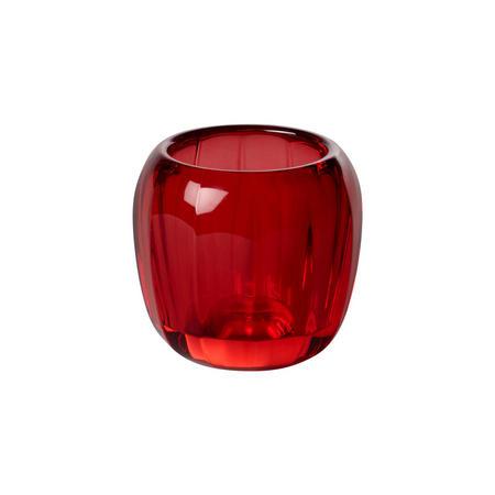 Coloured DeLight Tealight Holder Deep Red