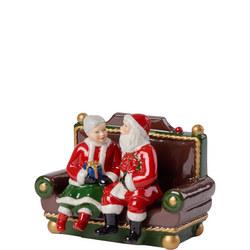 Mr & Mrs Santa Music Box