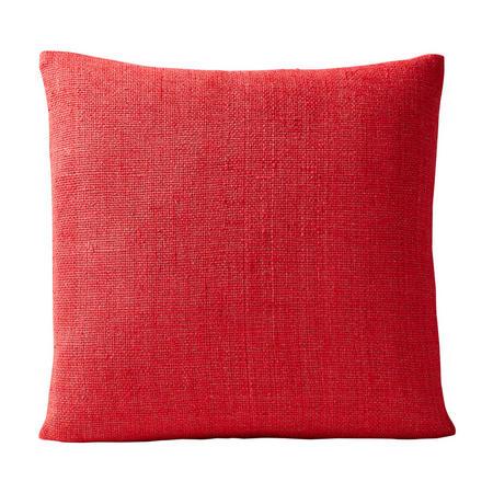 Silk Handloomed 50x50 Cushion Cover, Carmine Red