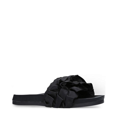 Ruffle Sandal Black