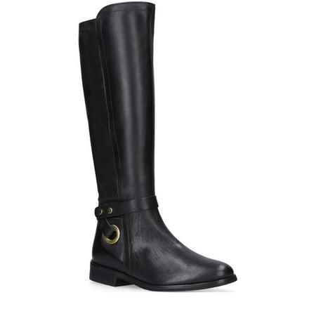 Walter Knee High Boots Black