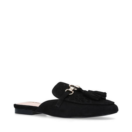 Long Mules Shoes Black