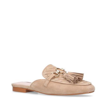 Long Mules Shoes Beige