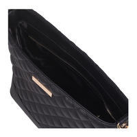 Star Quilted Shoulder Bag Black