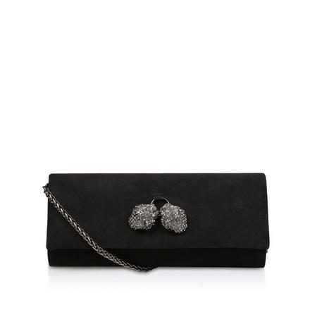 Growl Clutch Bag Black
