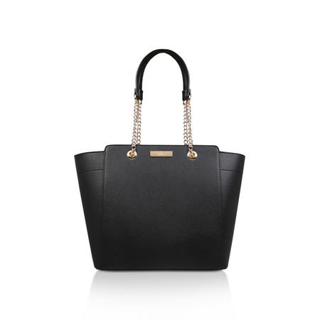 Rate Tote With Part Chain Handbag Black