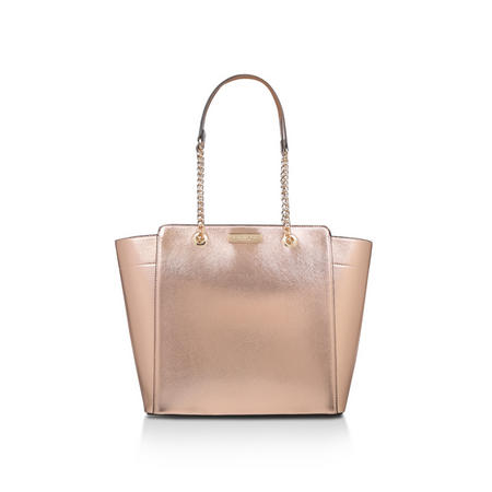 Rate Tote With Part Chain Handbag Metallic