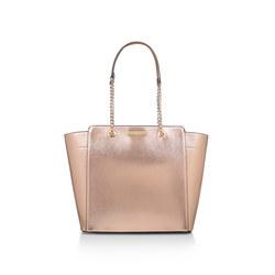 Rate Tote With Part Chain Handbag Metallic