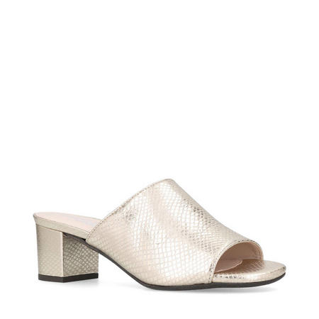 Abby Mule Shoes Gold-Tone