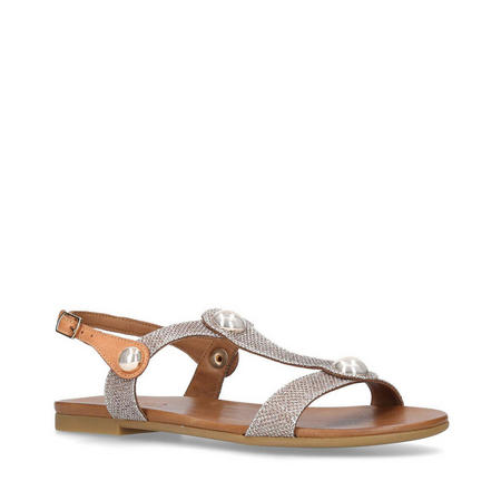 Saz Sandals Gold-Tone