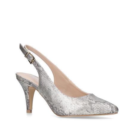 Kicker Slingback Court Shoe Gold