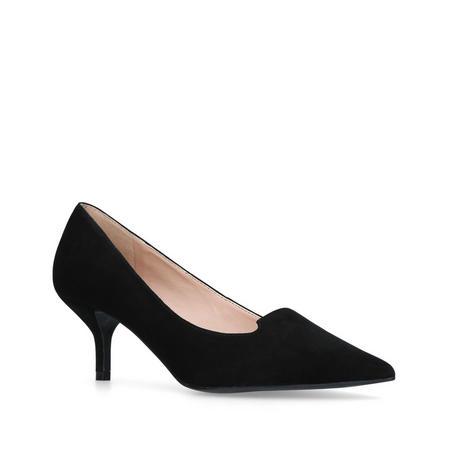 Peony Court Shoe Black