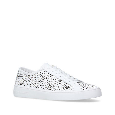 Keaton Lace Up Trainer White