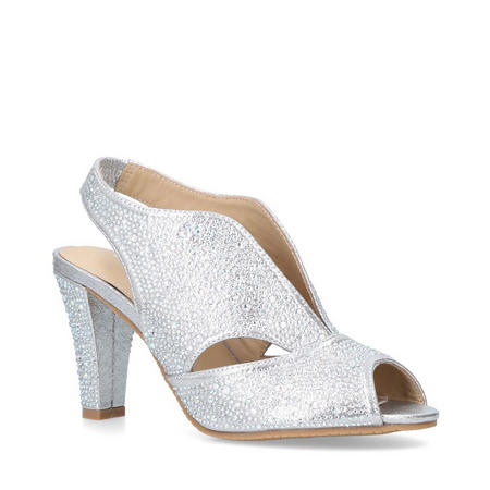 Arabella Court Shoes Silver-Tone