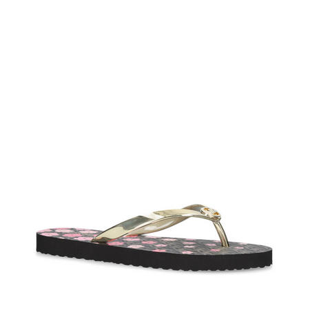 Mk Flip Flop Stripe Eva Sandal Gold