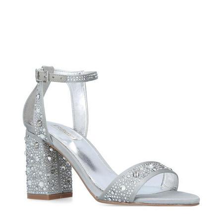 Gigi Heel Sandals Silver