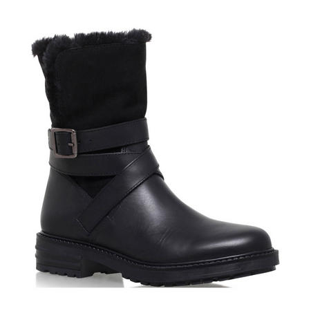 Soldier Ankle Boot Black