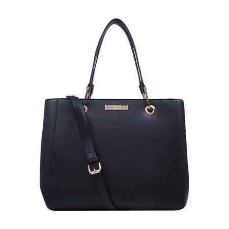 Reign Zip Structured Tote Black
