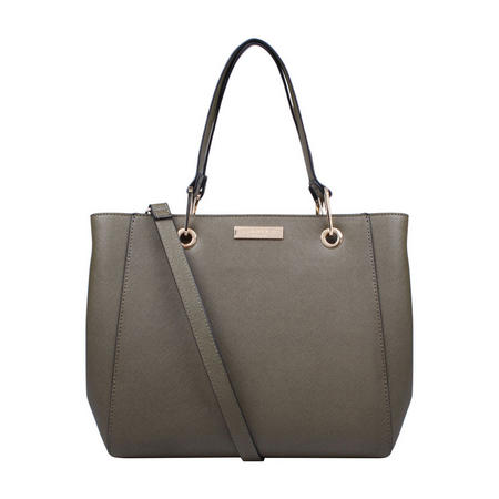 Reign Zip Structured Tote Green