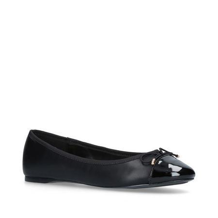 Melody Toecap Ballet Pump Black