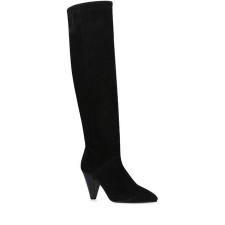 Whirl Knee High Boot Black