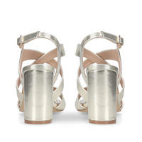 Saddle Sandal Gold-Tone