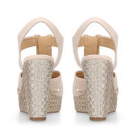 Berkley Wedge Sandal Beige