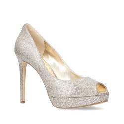 Erika Platform Court Shoe Silver-Tone