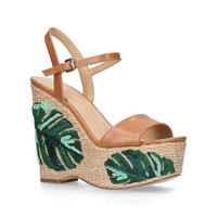 Fisher Wedge Sandal Brown
