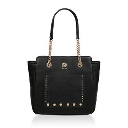 Studded Chain Shopper Tote Bag