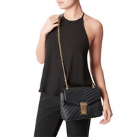 Celina V Quilt Cross Body Bag